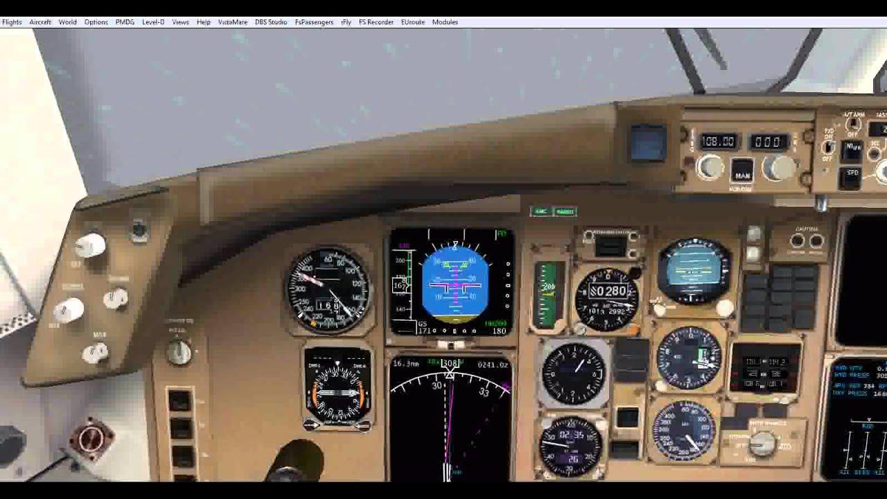 FS2004 Level-D B-767 takeoff