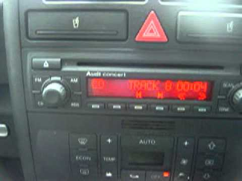 audi a2 fsi 59k fash concert cd stereo player test. Black Bedroom Furniture Sets. Home Design Ideas