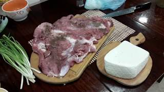 Запекаем фаршированное мясо | Bake stuffed meat