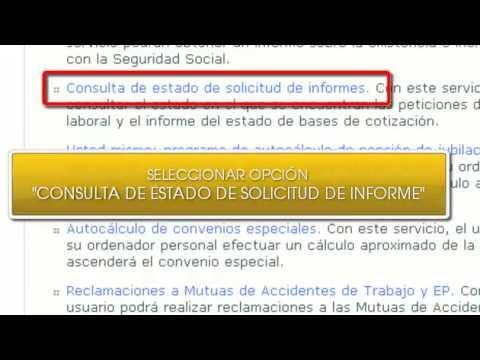 Consulta De Estado De Solicitud De Informe De Vida Laboral Youtube