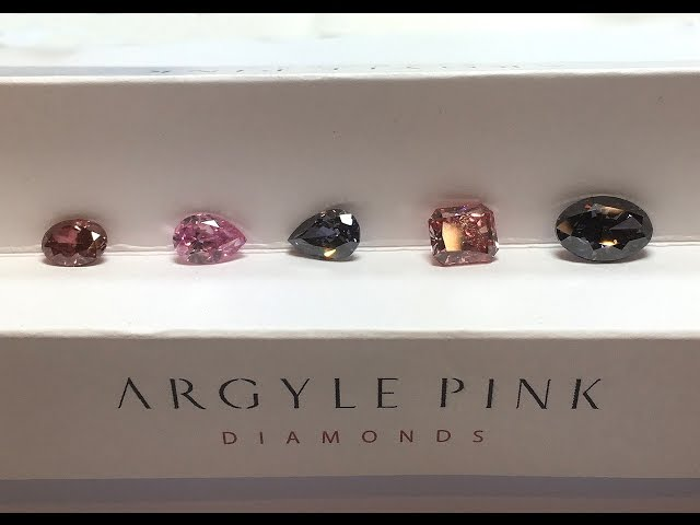 The 5 hero coloured diamonds from Argyle Chroma collection