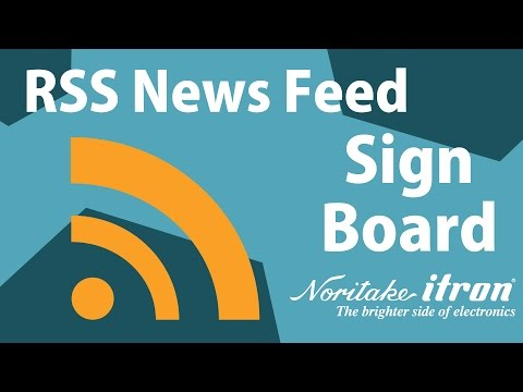 Noritake Sign Board: RSS News Feed Display - Moving Message Test