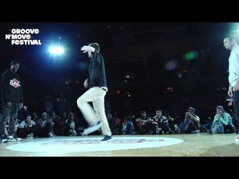 GROOVE'N'MOVE BATTLE 2017 - 1/4 Final Tutting - CelsoBoog vs Okami vs Fabrègue
