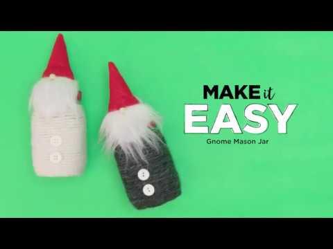 Gnome Mason Jar Project | Michaels
