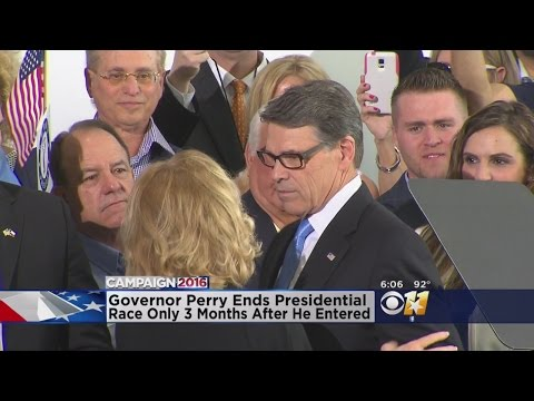 Former Texas Governor Rick Perry Suspends Presidential Campaign
