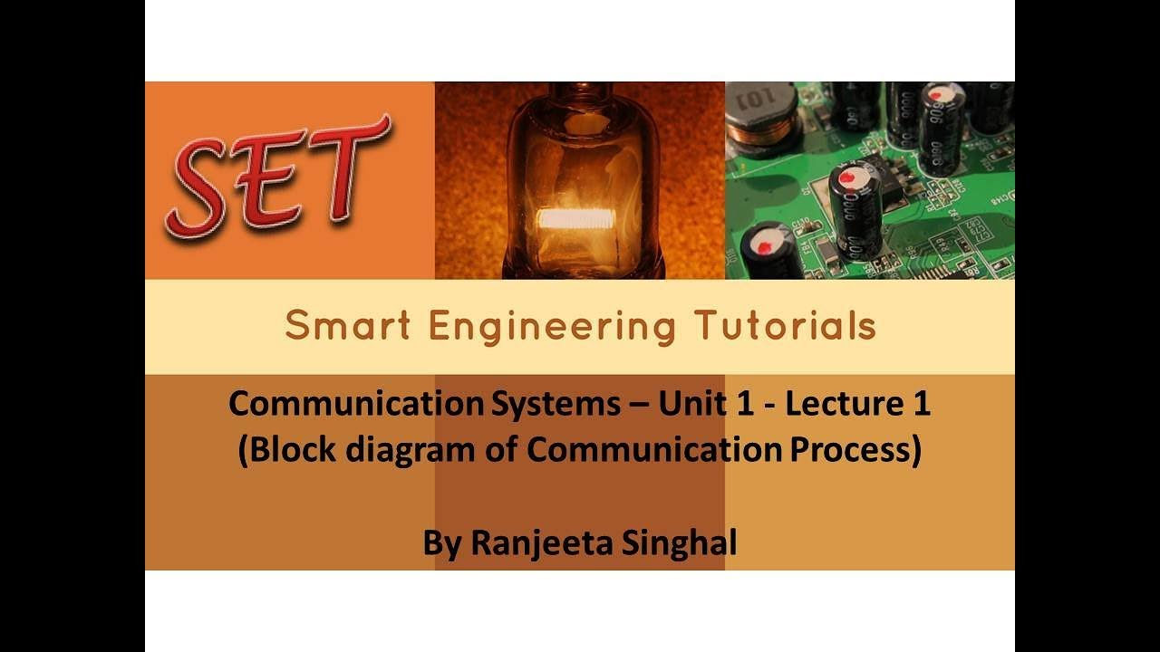 communication systems unit 1 lecture 1 block diagram of communication process  [ 1280 x 720 Pixel ]