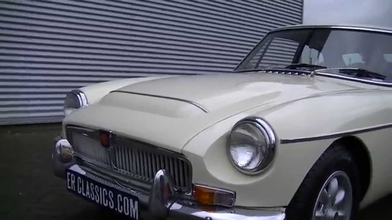 MG MGC GT Coupe 1969 3.0 ltr 6 cyl old english white -VIDEO- www ...