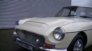 MG MGC GT Coupe 1969 3.0 ltr 6 cyl old english white -VIDEO- www.ERclassics.com