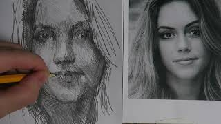 DRAWING - A rough sketch of a girl - Graphite pencil YouTube Videos