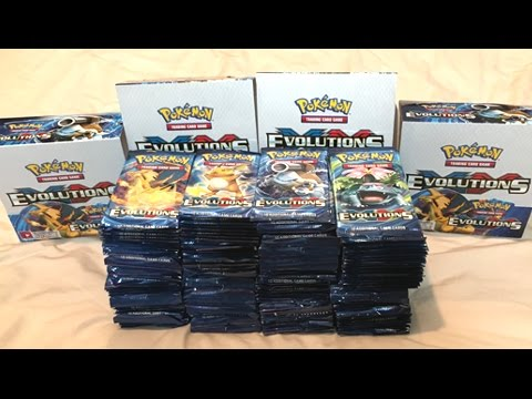 Opening 4 POKEMON EVOLUTIONS Booster Boxes! - MY BIGGEST POKEMON CARD OPENING EVER!