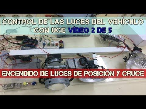 Control de las luces del vehículo con UCE vídeo 2 de 5. Luces de posición y cruce.