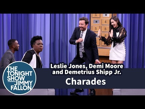 Thumbnail: Charades with Leslie Jones, Demi Moore and Demetrius Shipp Jr.