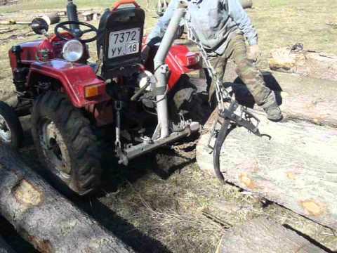 МТЗ-82 работа в лесу, трелёвка лебёдкой. | Doovi