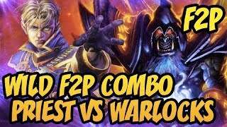 Hearthstone: Wild F2P Combo Priest VS Warlocks