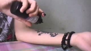 Как сделать временную тату без хны и талька.