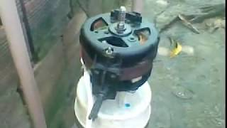 Canister caseiro e bomba d'água com motor de ventilador