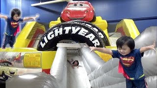 Giant Disney Cars Lightning McQueen Inflatable Slide and Indoor Playground