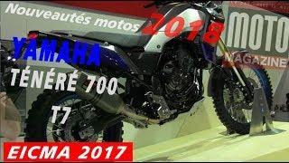 Yamaha 700 Ténéré, T7 2018 - salon de la moto de Milan (EICMA 2017)