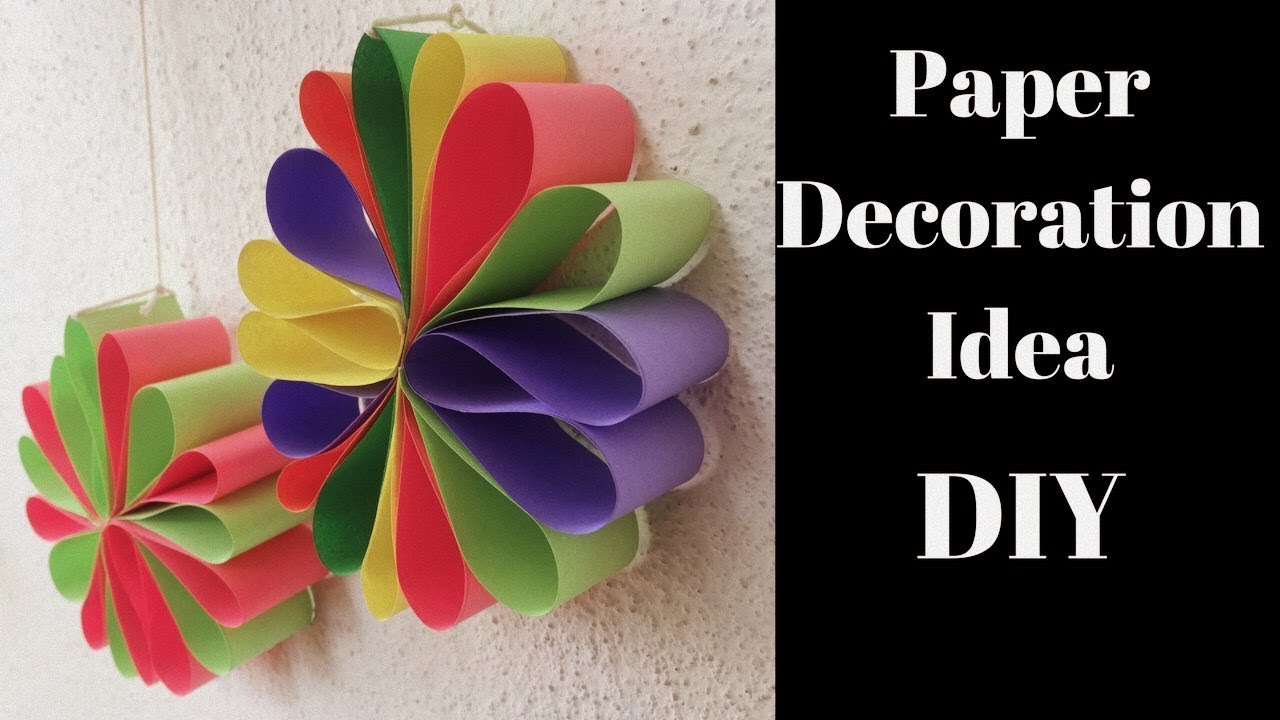 Diwali Decoration Ideas Diwali Decoration Paper Craft Wall