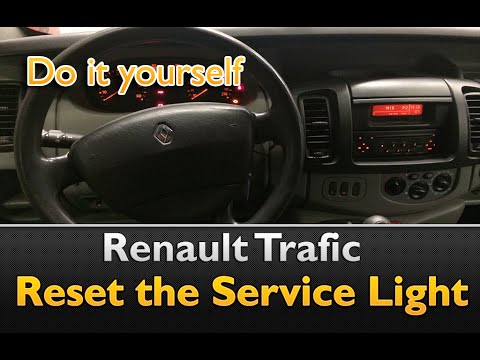 how to reset the service light on renault trafic youtube