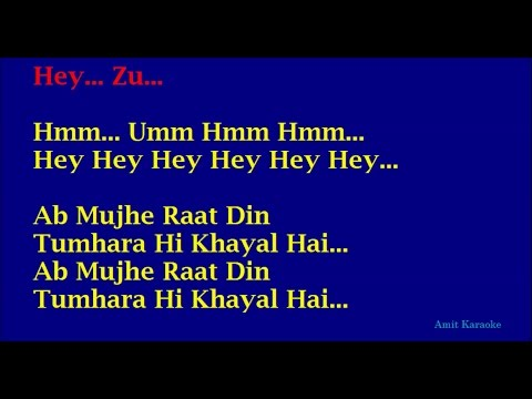 Ab Mujhe Raat Din - Sonu Nigam Hindi Full Karaoke with Lyrics