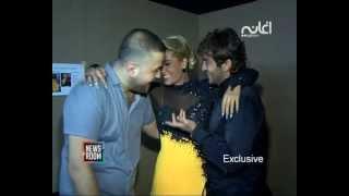 Georges El Rassi & Joelle Hatem جورج الراسي وجويل حاتم يتبادلان القبل