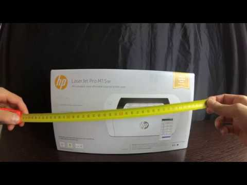 Обзор-распаковка принтера HP LaserJet Pro M15W из Rozetka
