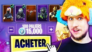 "I BUY ALL THE COMBAT PASS ""SAISON X"" ON FORTNITE BATTLE ROYALE !!!"