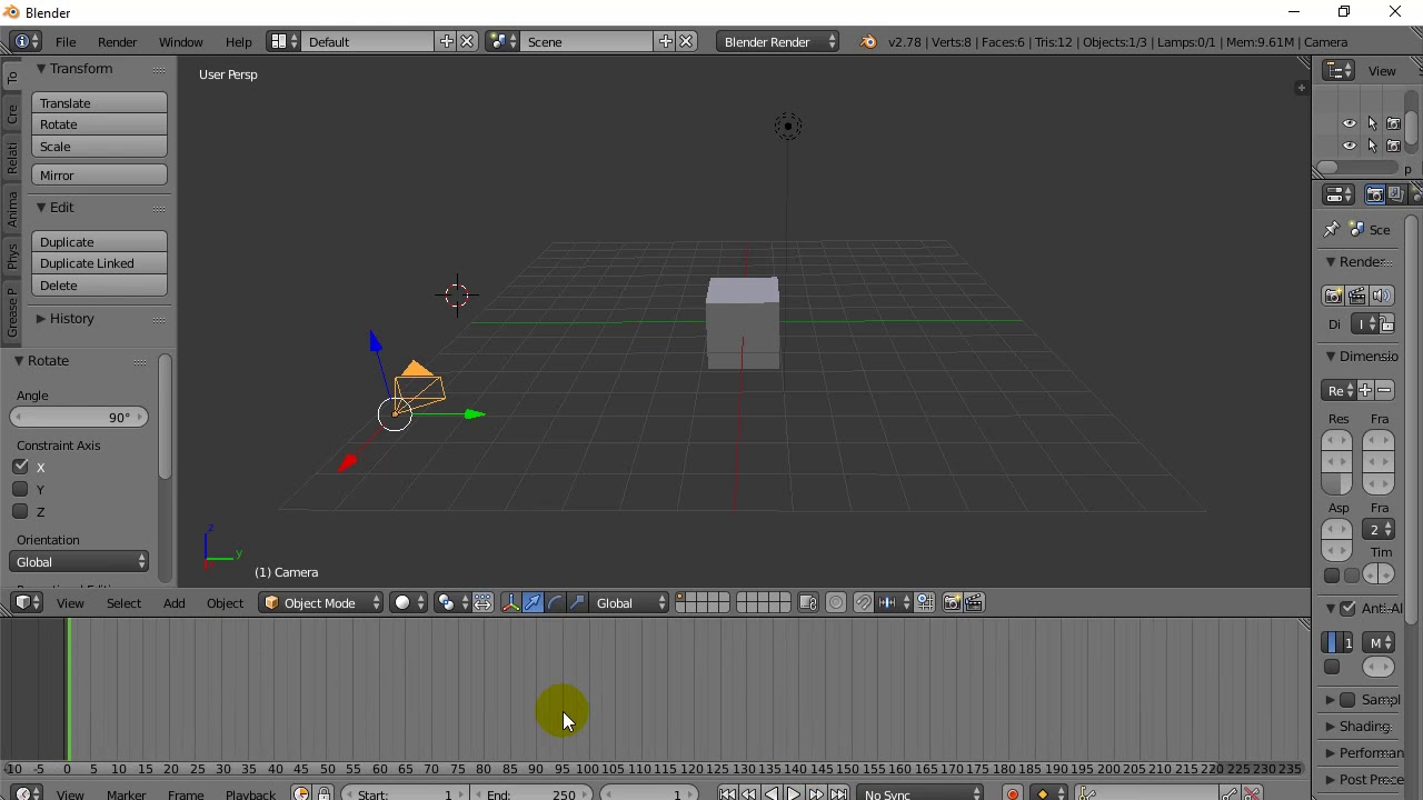 Blender Animate Camera With Keyframes