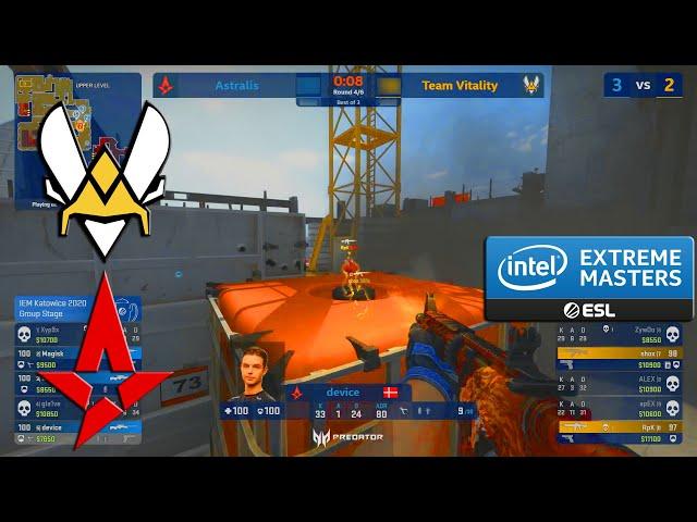 EPIC GAME!! - Vitality vs Astralis - IEM Katowice  2020 - CS:GO