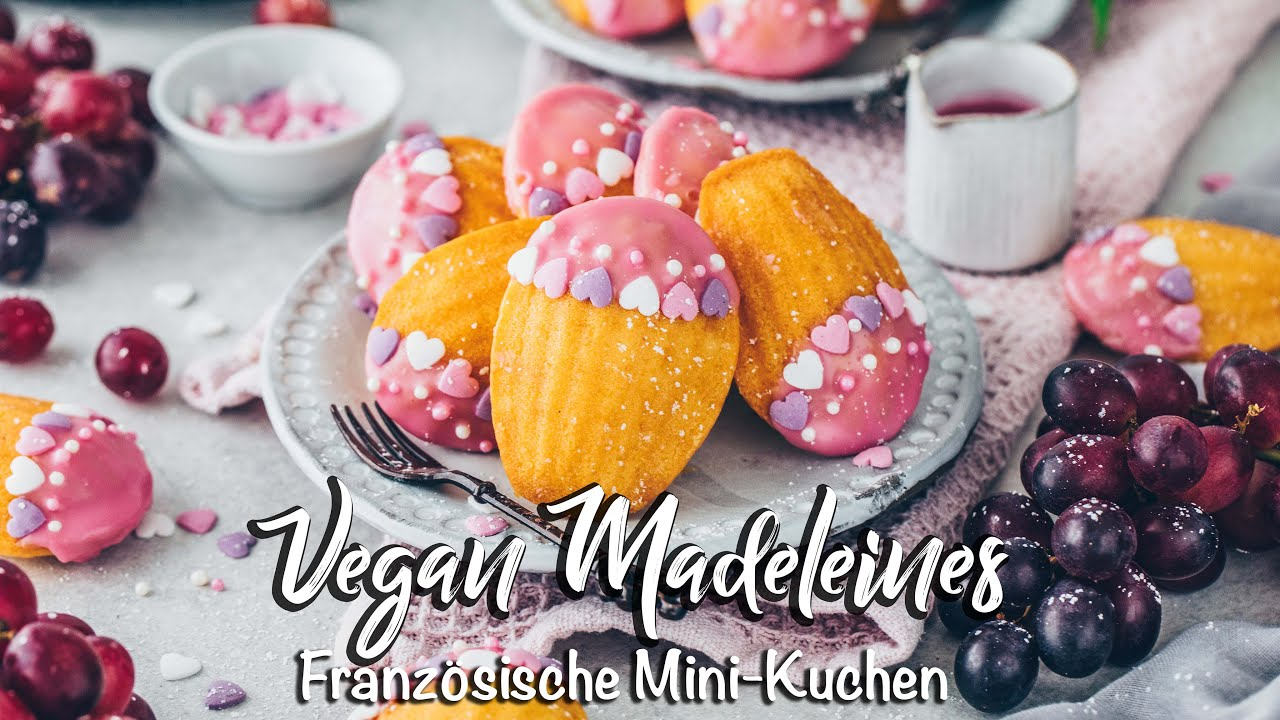 Vegane Madeleines - Französische Mini-Kuchen Rezept ♡ schnell und einfach ♡ so fluffig und lecker!