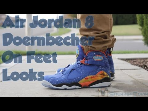 Air Jordan 8 Doernbecher DB8 | Caden Lampert | On Feet ...