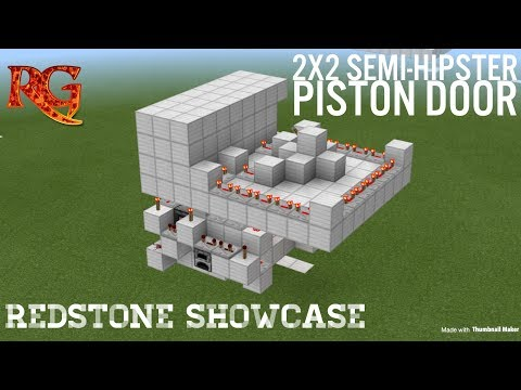 2x2 Semi-Hipster Door in MCPE! | Redstone Showcase