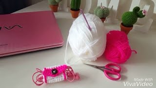 How to Crochet Earphone Holder