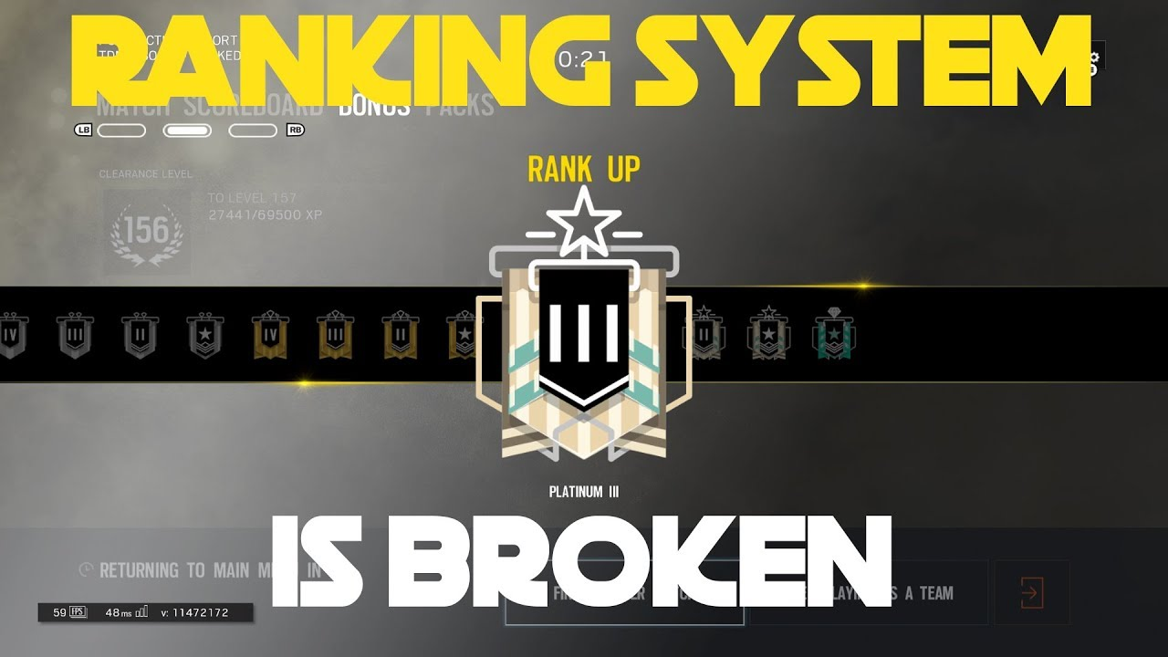 Why the ranking system is BROKEN on Siege    (Operation Chimera)