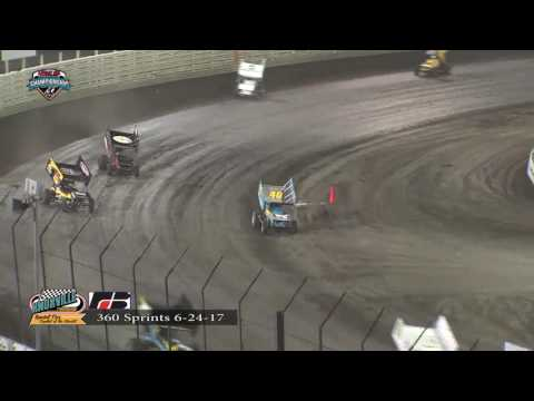 Knoxville Raceway 360 Highlights June 24. 2017