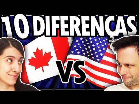 10 DIFERENÇAS entre CANADÁ e ESTADOS UNIDOS