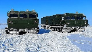 The ROADS of the NORTH ATVS DT 30, MTLB, DT 10, GTT Russian machinery on the road Compilation