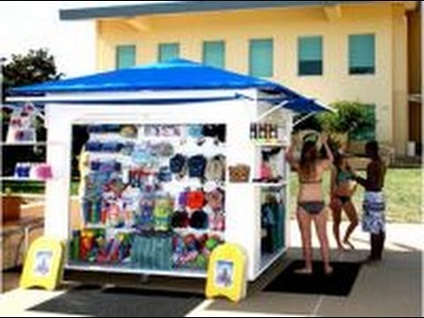 Outdoor retail kiosks mobile displays by cart king youtube for Mobili kios