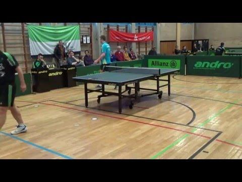 Jan Schubert vs Th Wetzel  2 Oberliga Bayern TSV Ansbach vs Rosenheim 20150322 12