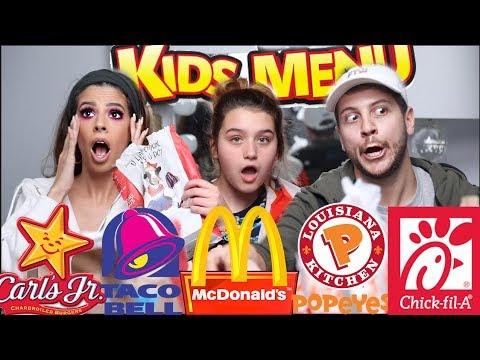 EXTREME FAST FOOD KIDS MEALS MUKBANG | LAURA LEE & NIECE