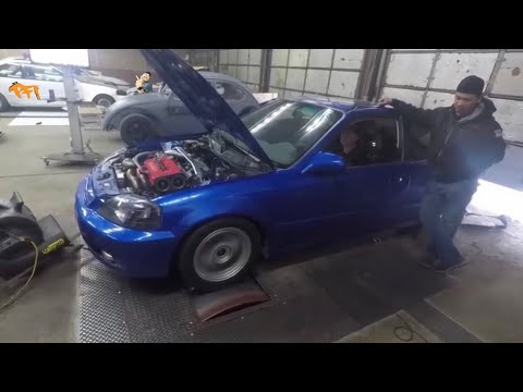 400+ Civic on pump Gas and Water Methanol ! Dyno bets get serious!
