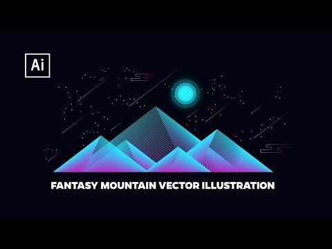 Fantasy Mountains Vector Illustration | Adobe Illustrator Tutorial thumbnail