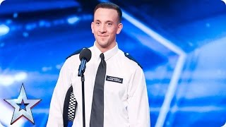PC Dan Graham gets his groove on | Auditions Week 1 | Britain's Got Talent 2017