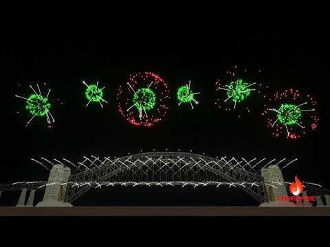 Sydney, Australia New Year 2018 Celebration Fireworks Display | FWsim