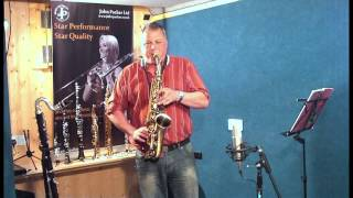 JP045V alto saxophone demonstration by Pete Long - John Packer Ltd