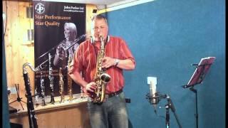 JP045V alto saxophone demonstration by Pete Long - John Packer Ltd