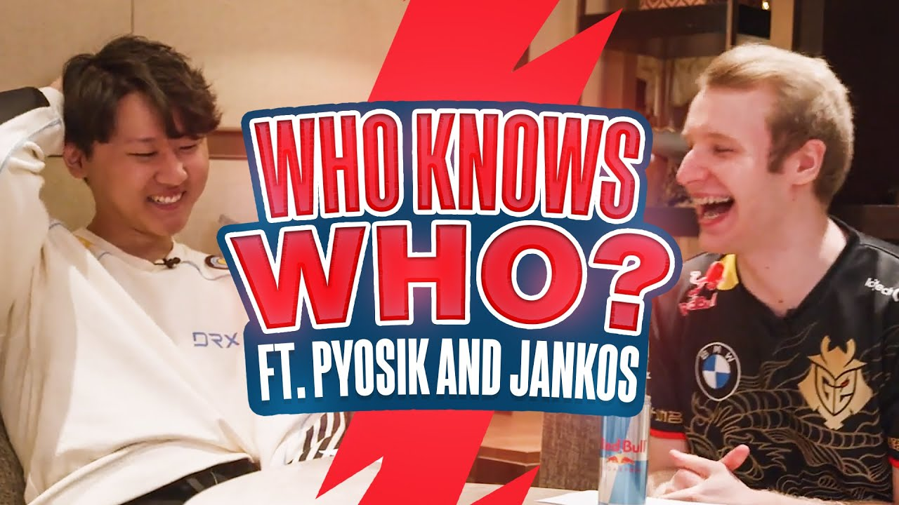 Who Knows Who? Ft. Pyosik & Jankos | League of Legends - YouTube