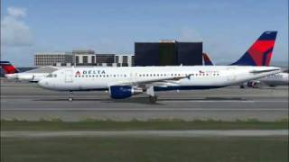 Delta Air Lines Airbus A320 flight to Las Vegas (FS2004)