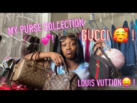 MY PURSE COLLECTION 💕 . gucci , louis vuttion, coach & more !! from YouTube · Duration:  7 minutes 50 seconds